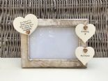 Shabby personalised Chic Photo Frame In Memory Of Grandad ~ Grandfather Any Name - 332867165558